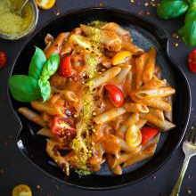 Creamy Roasted Red Capsicum Pasta