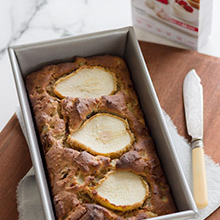 Fresh Pear & Sultana Loaf Cake