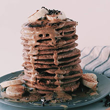 Cacao Buckwheat Pancakes