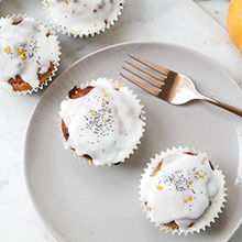 Lemon Poppyseed Cupcakes with a Lemon Drizzle