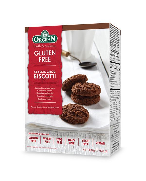 Orgran Classic Choc Biscotti
