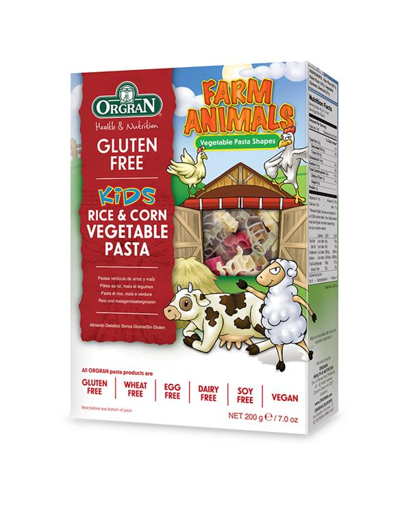 Orgran Rice and Corn Vegetable Pasta - Farm Animals