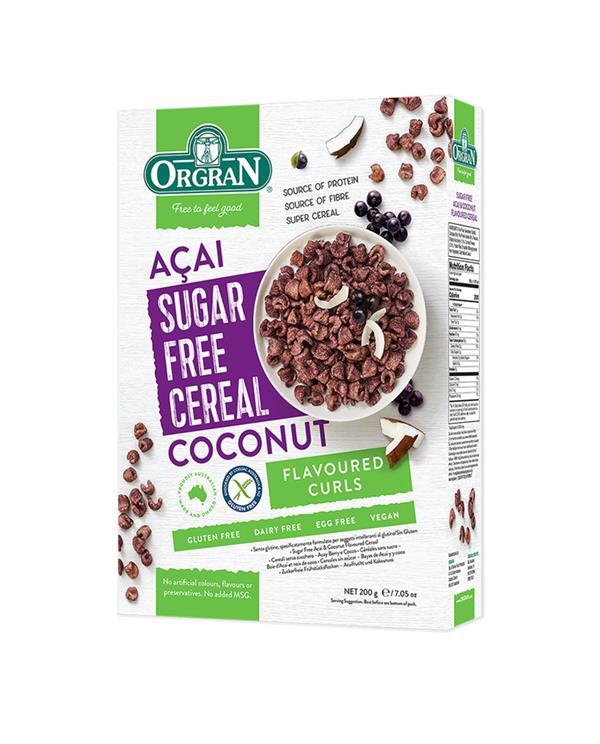 Orgran Sugar Free - Acai and Coconut Cereal