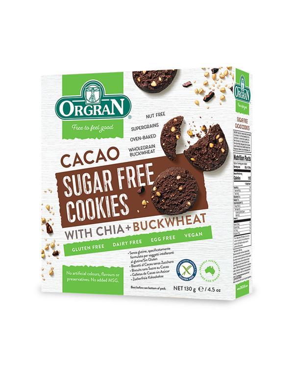 Orgran Sugar Free - Cacao Cookies