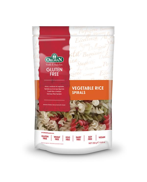 Orgran Vegetable Rice Pasta Spirals